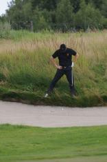 Golfball in der ungluecklichen Lage